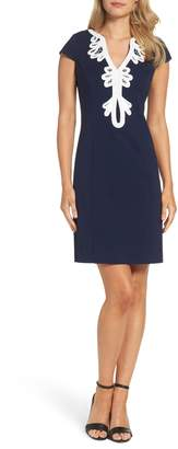 Eliza J Cap Sleeve Sheath Dress