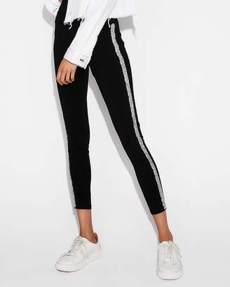 Express High Waisted Embellished Side Stripe Leggings