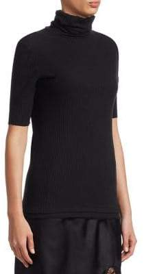 Helmut Lang Short Sleeve Turtleneck Top