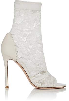 Gianvito Rossi Women's Missy Lace & Leather Ankle Boots - White