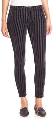 Hudson Women's Nico Striped Velvet Ankle Pants