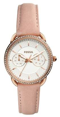 Fossil Tailor Multifunction Blush Leather Watch Jewelry