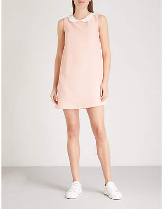 Claudie Pierlot Peter Pan-collar crepe mini dress