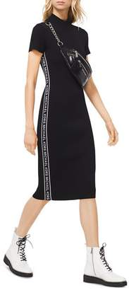MICHAEL Michael Kors MICHAEL Logo Tape Ribbed Knit Dress