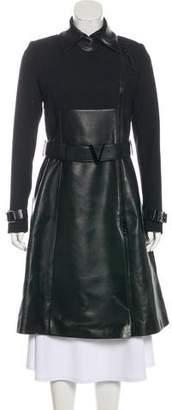 Versace Long Leather Coat