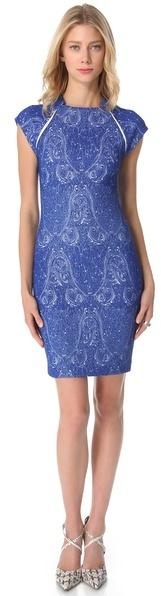Yigal Azrouel Paisley Jacquard Dress