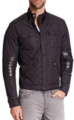 Michael Kors Quilted Leather-Trimmed Jacket