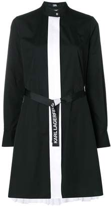 Karl Lagerfeld pleated poplin shirt dress
