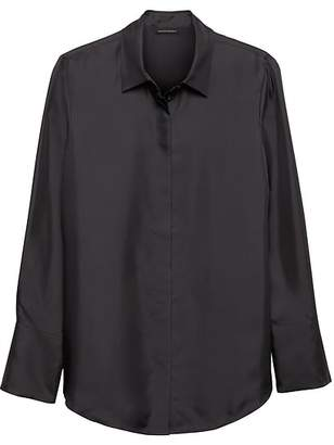 Banana Republic Heritage Silk Button Down Shirt