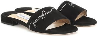 Jimmy Choo Joni embellished suede sandals