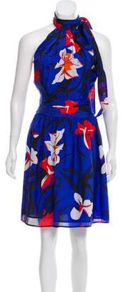 Issa Silk Floral A-Line Dress