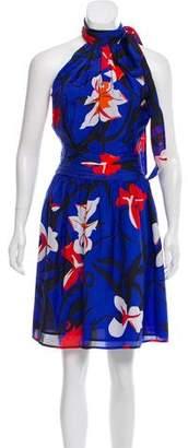 Issa Silk Floral A-Line Dress