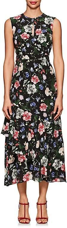 Women's Floria Floral Silk Sleeveless Dress
