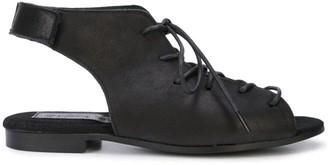 Yohji Yamamoto lace-up slingback sandals