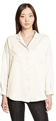 WEGO (ウィゴー) - (ウィゴー) WEGO(ウィゴー) サテン開襟シャツ DU17SP03-L002 オフホワイト F