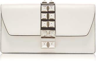Prada Stud-Embellished Leather Wallet