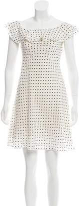 Ralph Lauren Polka Dot Off-the-Shoulder Dress