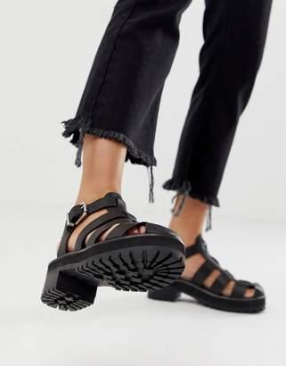 Asos Design DESIGN Fisherman premium chunky flat leather sandals
