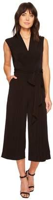 Catherine Malandrino Sleeveless Pin Tuck Jumpsuit Women's Jumpsuit & Rompers One Piece