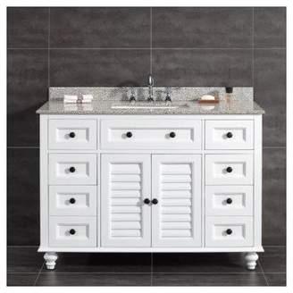 Ove Decors Heather 48 Single Tiger Granite Top and Rectangular Basin Vanity Set