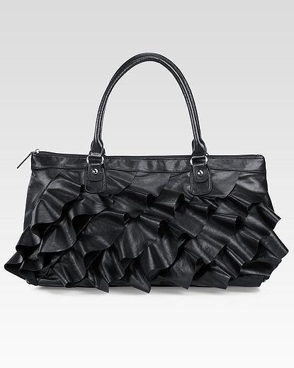 Ruffled Tote Bag