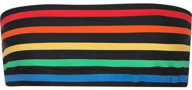 TM Rio - Paquetá Striped Bandeau Bikini Top - Black