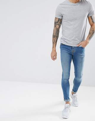Hoxton Denim Extreme Skinny Jeans in Mid Wash Blue