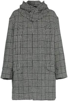 Raf Simons houndstooth padded parka coat