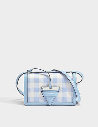 Loewe Barcelona Gingham Small Bag in Soft Blue Soft Grained Calf and Calf