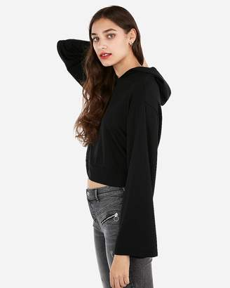 Express One Eleven Cropped Bell Sleeve Hoodie