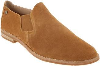 Hush Puppies Slip-On Suede Loafers - Analise Clever