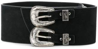 B-Low the Belt double buckle western belt