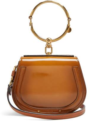 Chloé Nile small leather suede cross-body bag