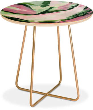 Deny Designs Laura Fedorowicz Weeds Are Flowers Too Round Side Table