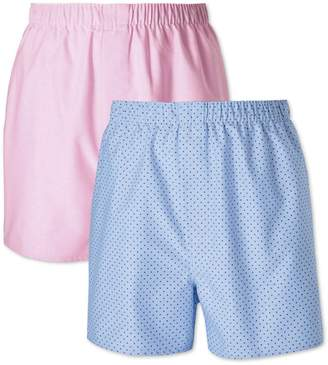 Charles Tyrwhitt Pink and Sky Dot 2 Pack Boxers Size XS