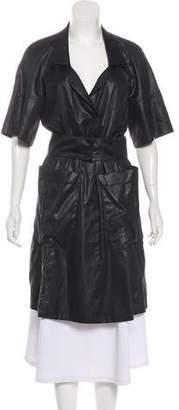 Karl Lagerfeld Notch-Lapel Short Sleeve Coat