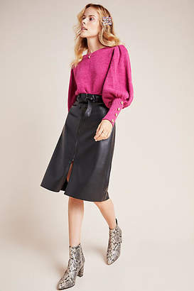 Bailey 44 Marceline Faux Leather A-Line Midi Skirt