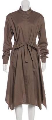 AllSaints Long Sleeve Midi Dress
