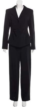 Giorgio Armani Wool Pleated Pantsuit