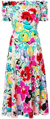 Rixo London Bella floral off shoulder dress