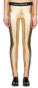 Paco Rabanne WOMEN'S LOGO STIRRUP LEGGINGS-GOLD SIZE S
