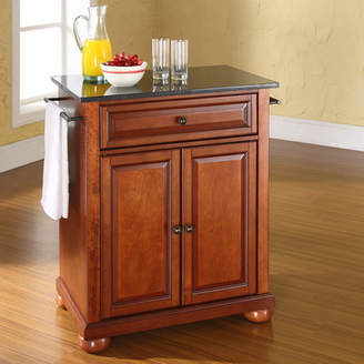 Co Darby Home Pottstown Solid Black Granite Top Portable Kitchen Island