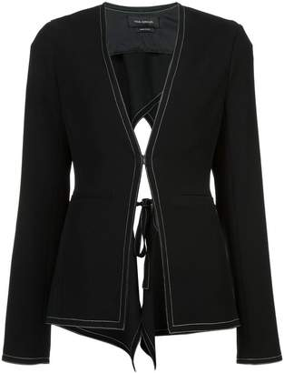 Yigal Azrouel open tie-back jacket