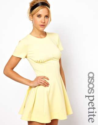 Asos Exclusive Skater Dress With Ruch Detail