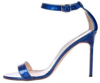 Manolo Blahnik Patent Leather Strap Sandals