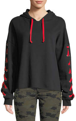 Generation Love Lindsay Lace-Up Pullover Hoodie