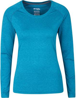 Warehouse Mountain Panna Women's Long Sleeved top - UV Protected, IsoCool Fabric with Lightweight, Breathable & Quick Drying - Ideal for Travelling, Walking, Gym or Running