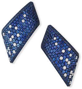 Vhernier Vague Ear Clips set in Titanium w/ Blue Sapphires & Diamonds