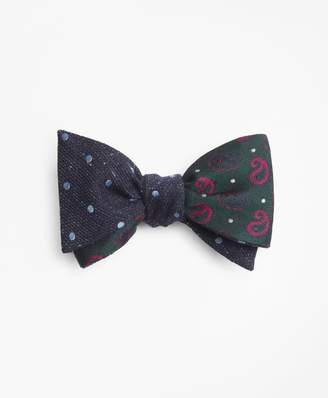 Brooks Brothers Pine and Dots with Medium Dot Reversible Bow Tie