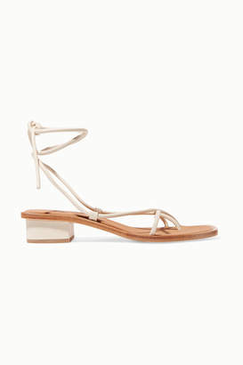 LOQ Ara Leather Sandals - Off-white